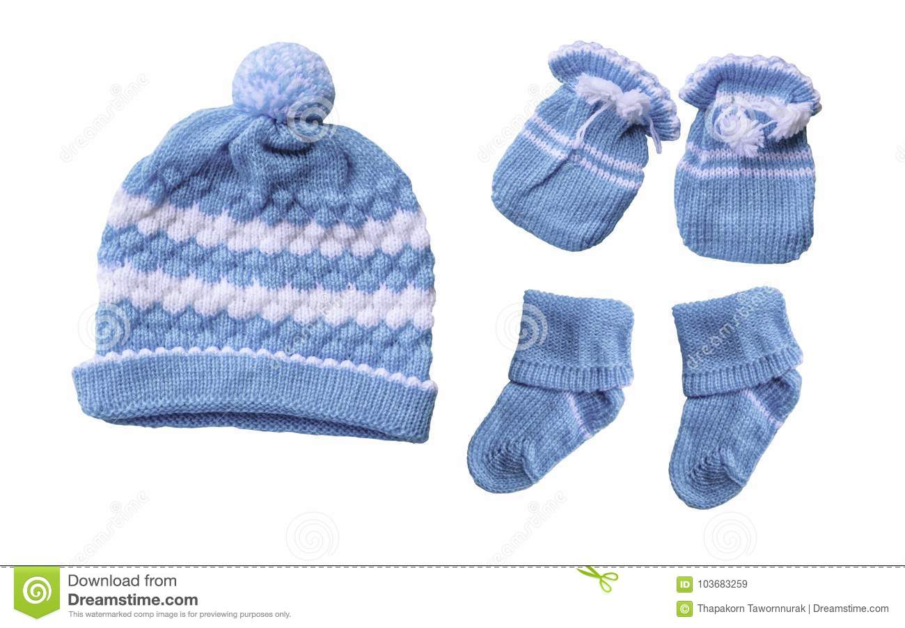 a29a0a5b146 Baby hat gloves sock stock image. Image of decor