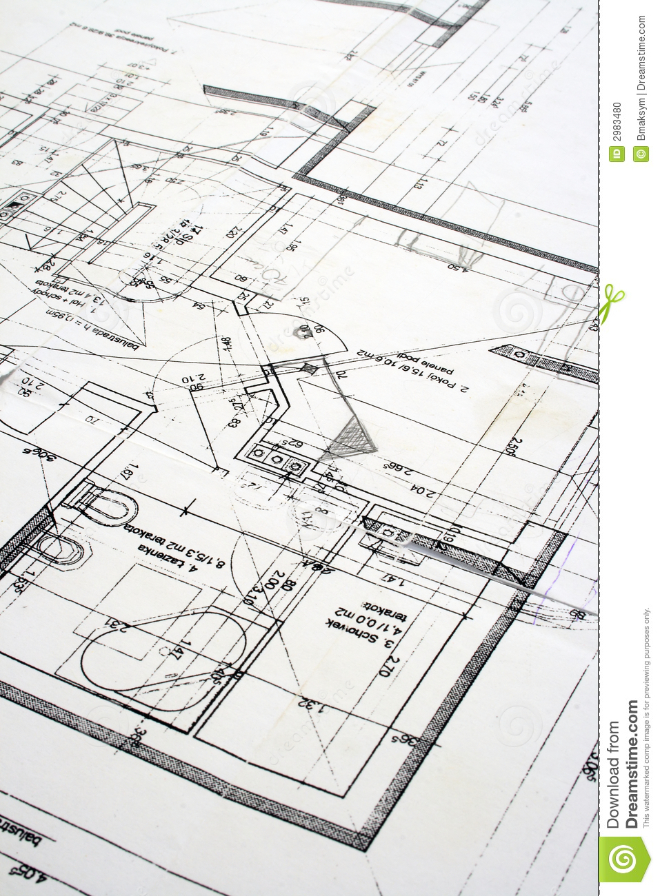 Close up of a blueprint stock photo image 2983480 for How to make a blueprint
