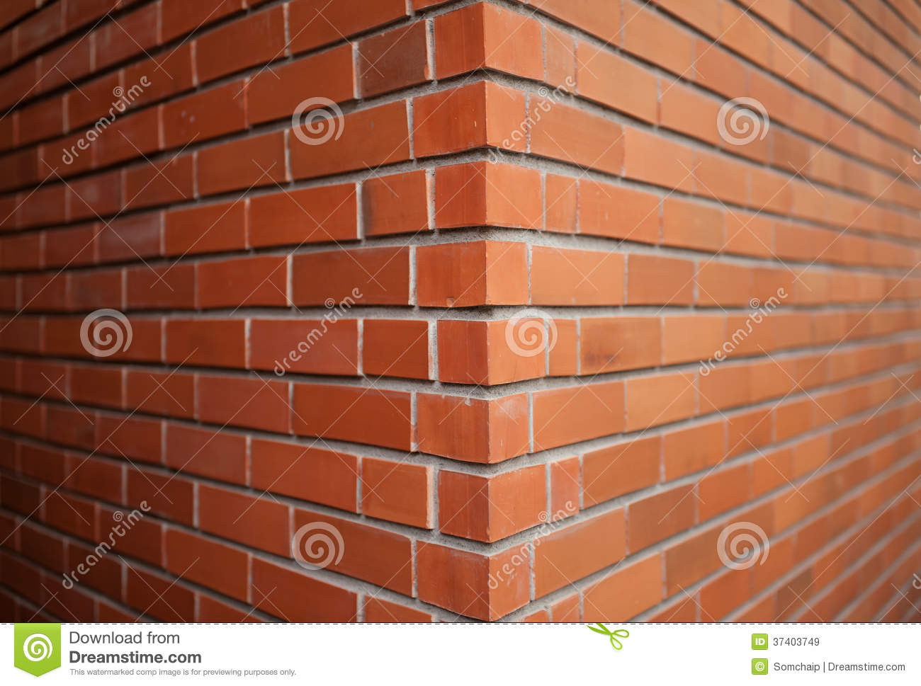 Orange Cement Wall : Close up of brick wall stock image brown dirty