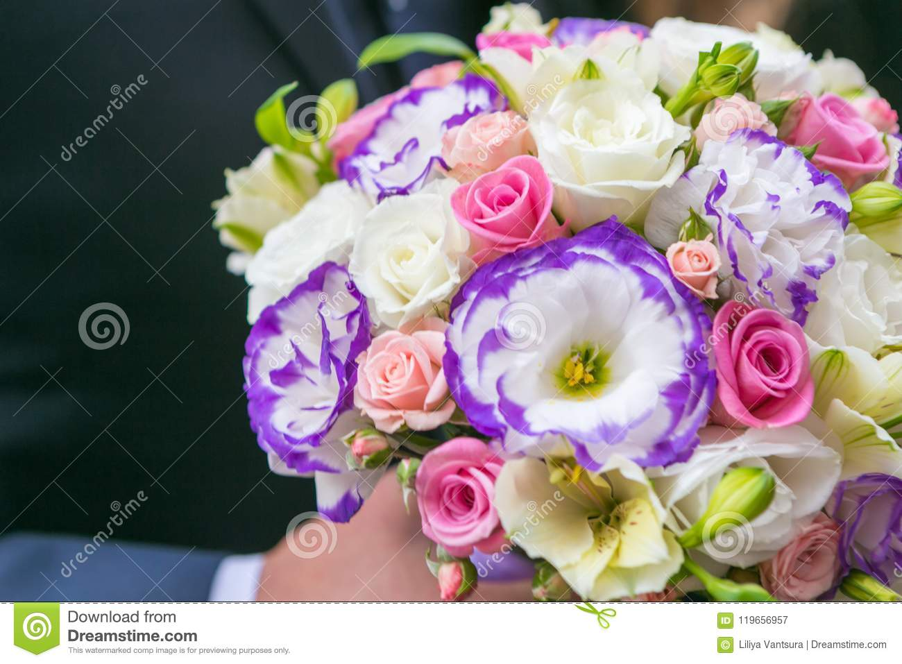 Nice Flower Bouquet Stock Image Image Of Bunch Leaf 119656957