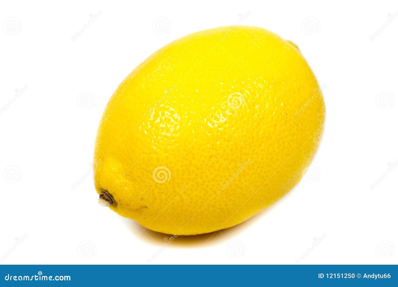 Close Up Bright Yellow Lemon Stock Photo Image 12151250