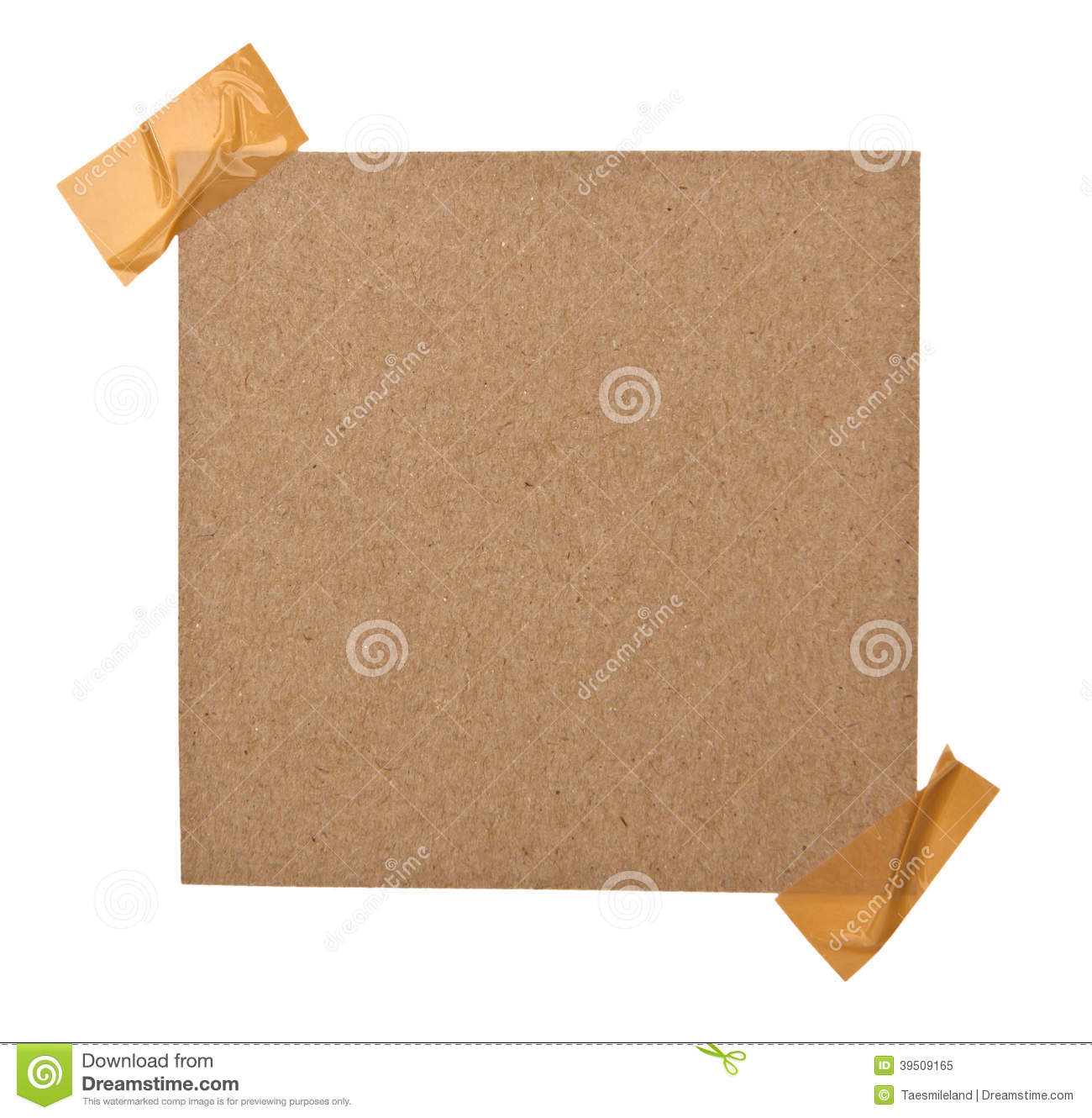 Close up of a brown note paper