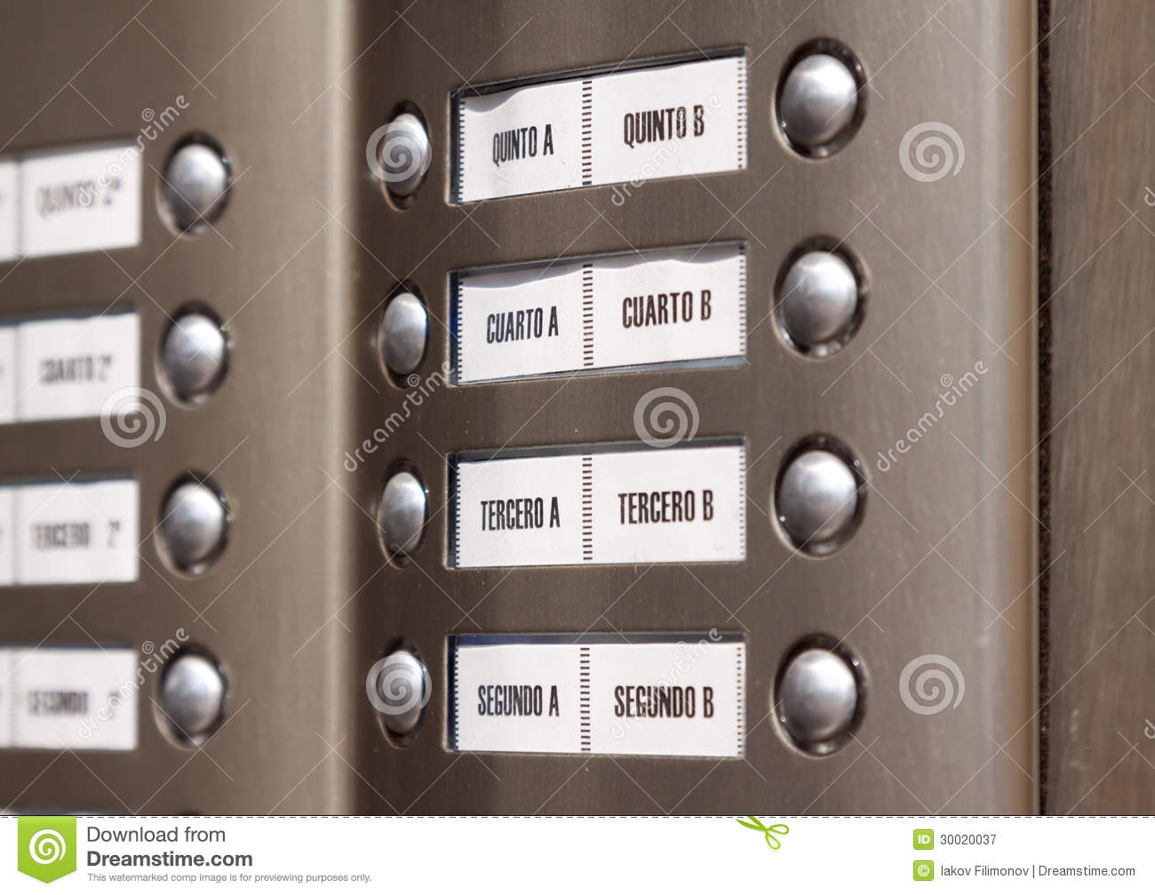 Building Intercom Apartment Numbers In Spanish Royalty