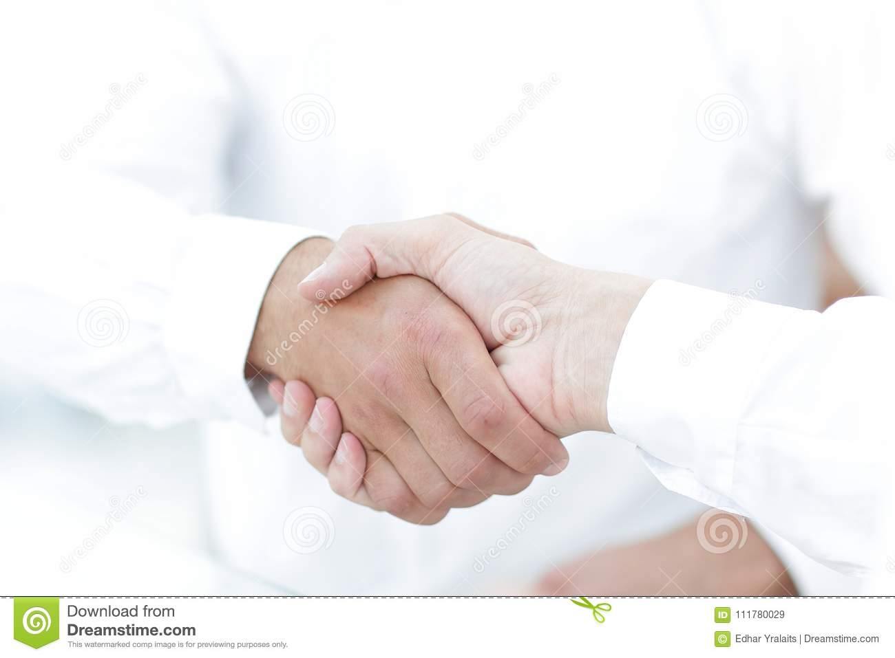 Close-up of business handshake.