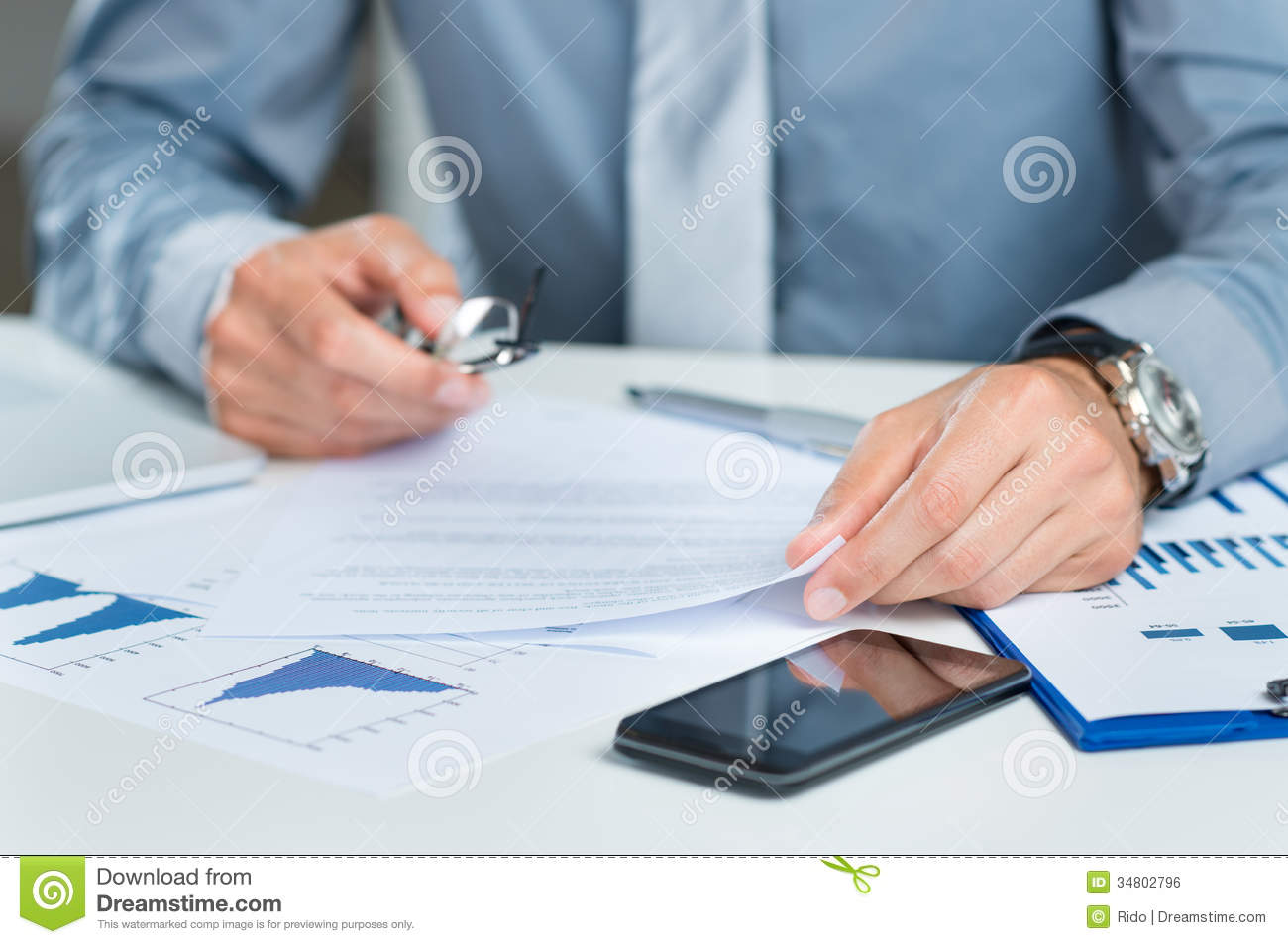 Close Up Of Businessman In Office Royalty Free Stock Image - Image ...