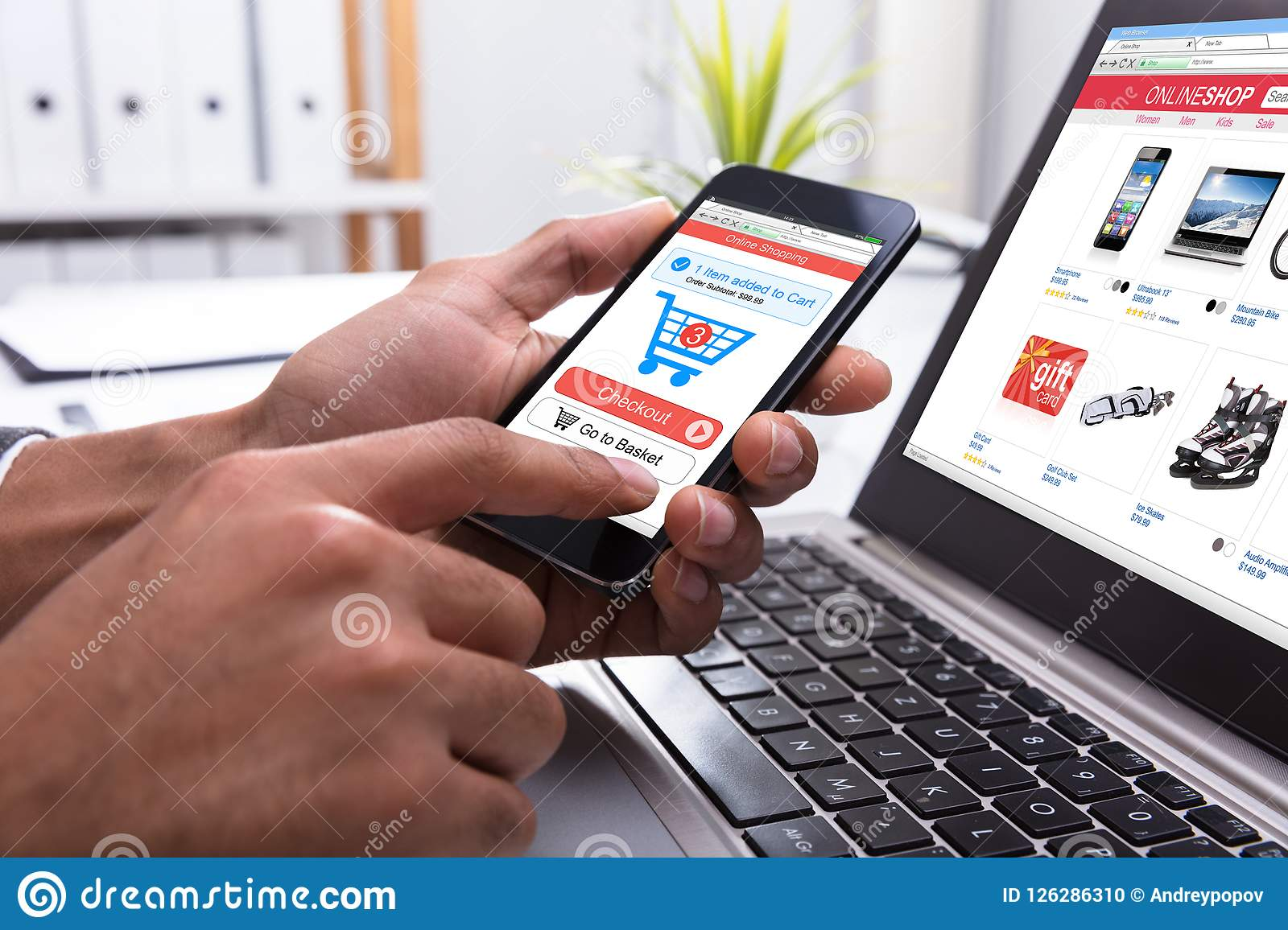 Businessperson Shopping Online On Smartphone