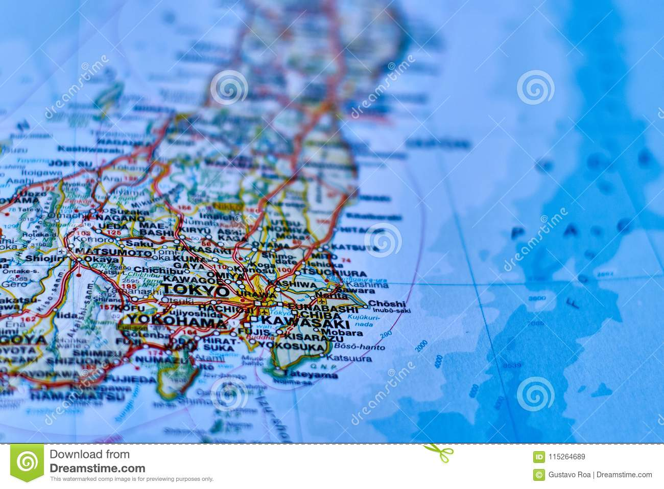 Map Of The City Of Tokio Japan Stock Image Image Of Towns City