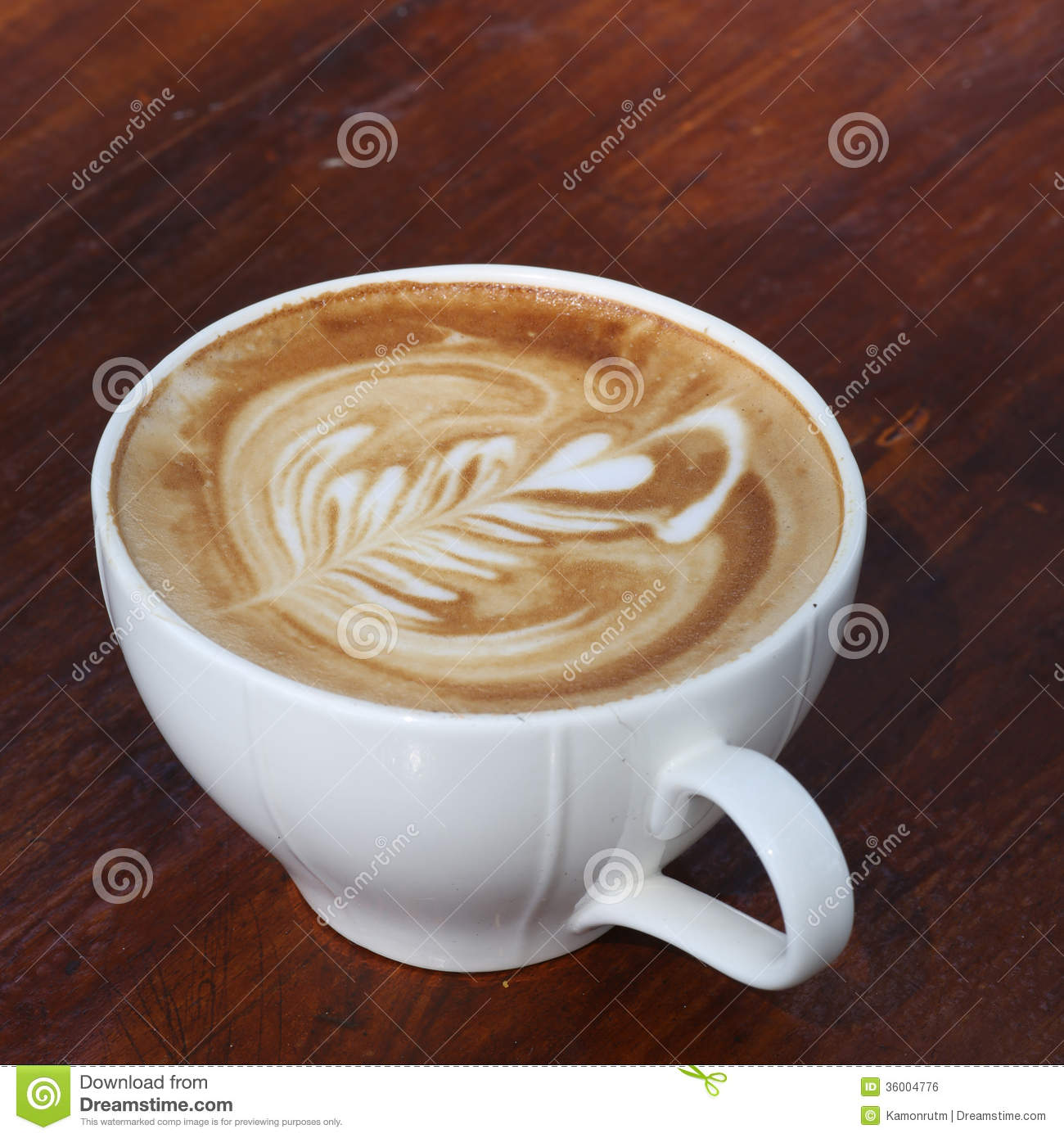 close up cappuccino coffee on table royalty free stock image