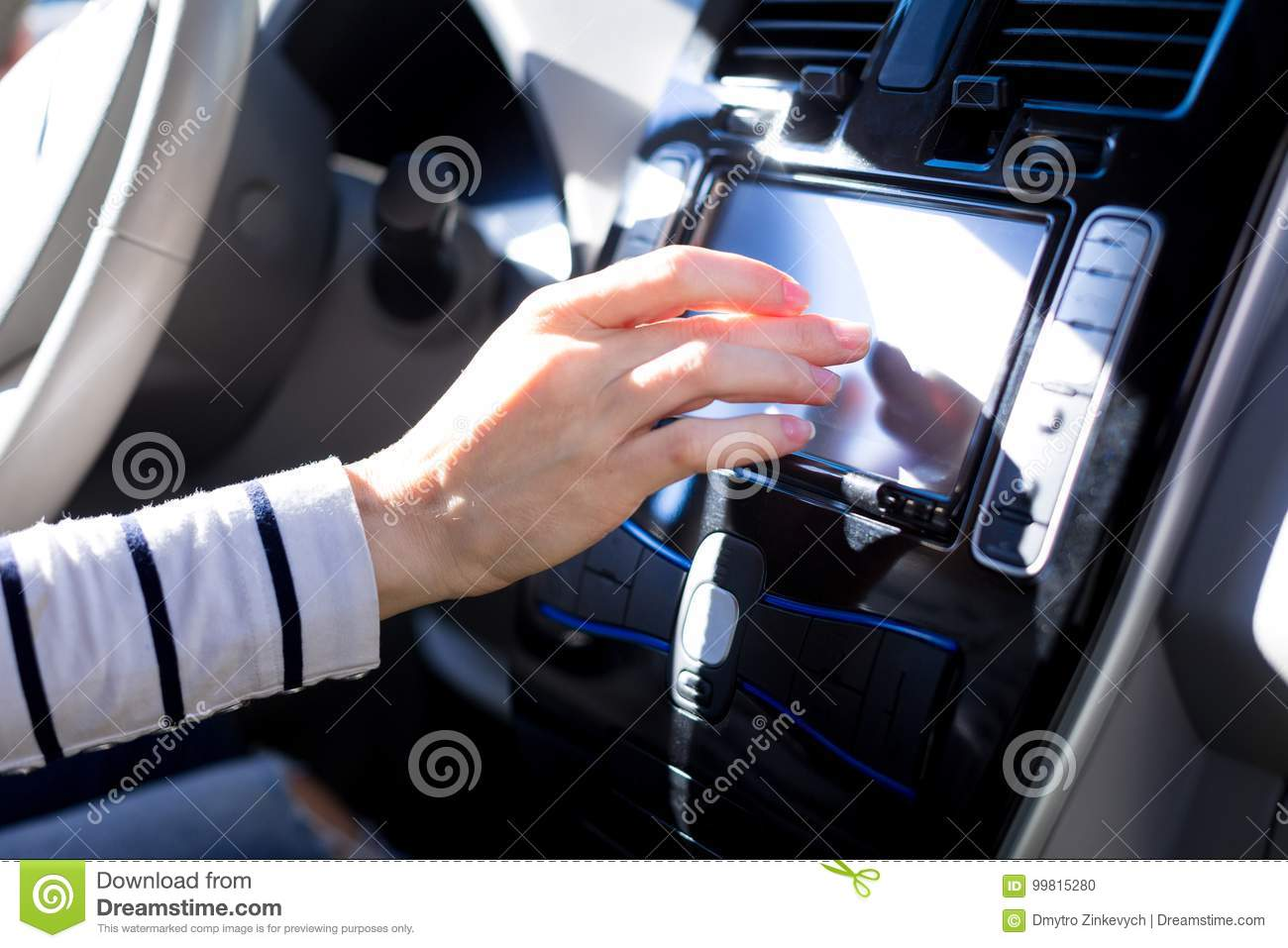 Close Up Of A Car Control Panel Stock Photo - Image of automobile ...