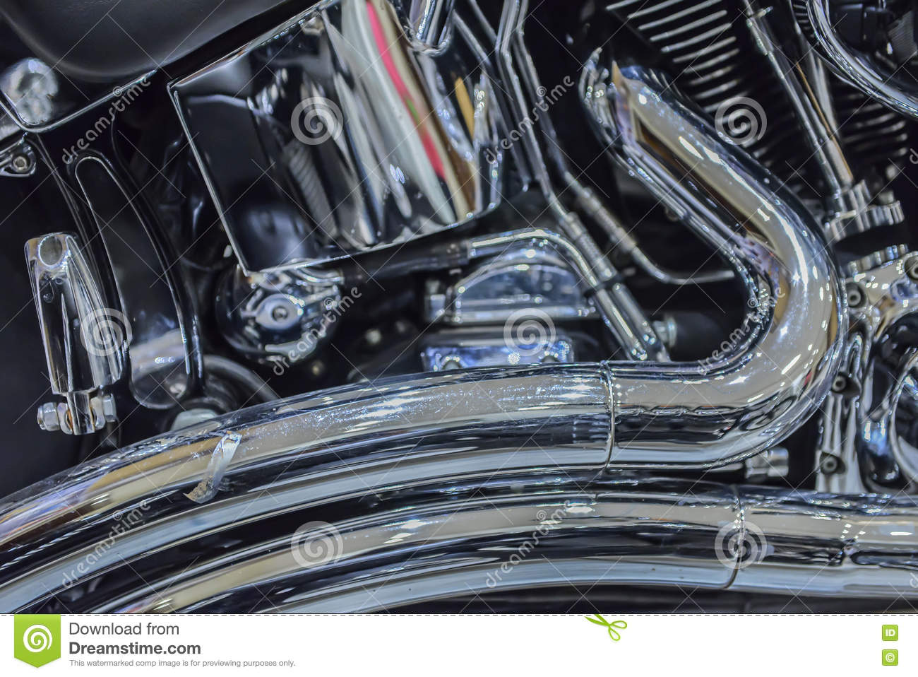 close up of Car Engine with metal
