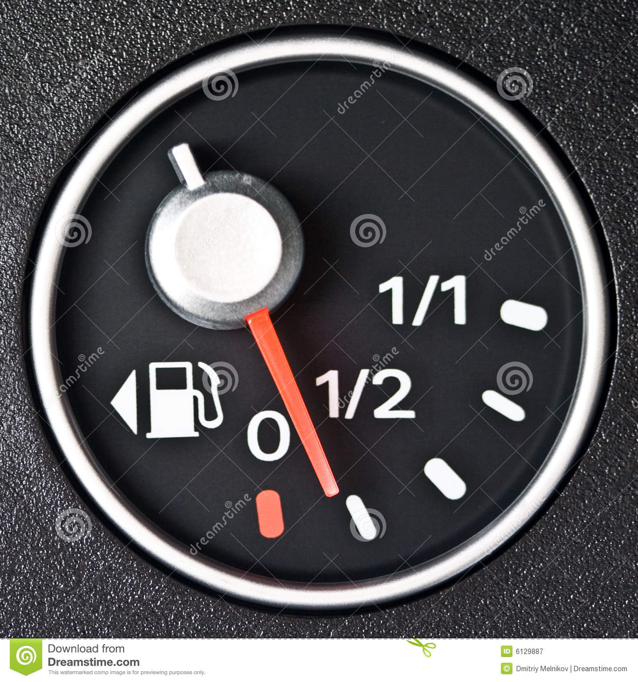 how to read gas meter in car