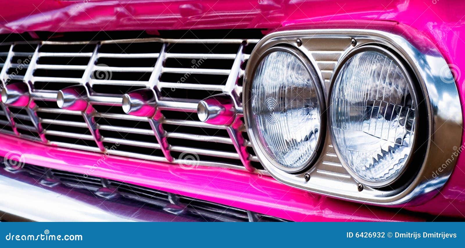 Close Up Car Grill Pink Caddie