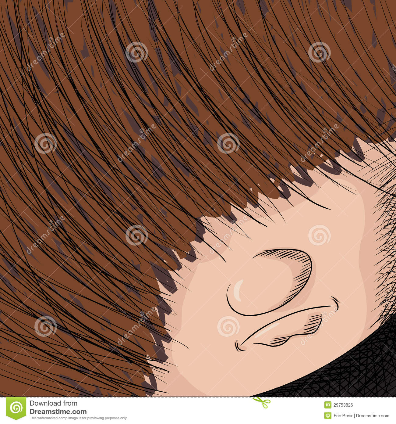Long Haired Person Stock Vector Illustration Of Gothic