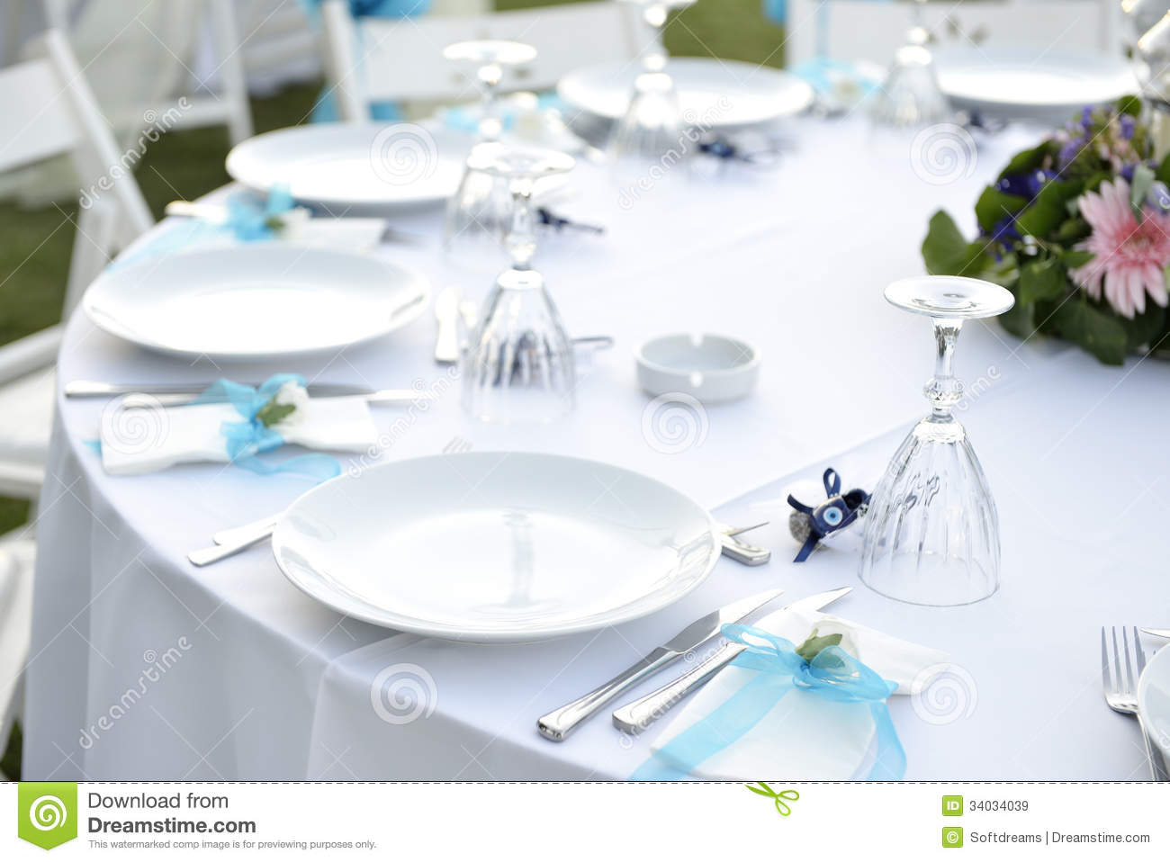 Close Up Catering Table Set Stock Image Image Of Fancy