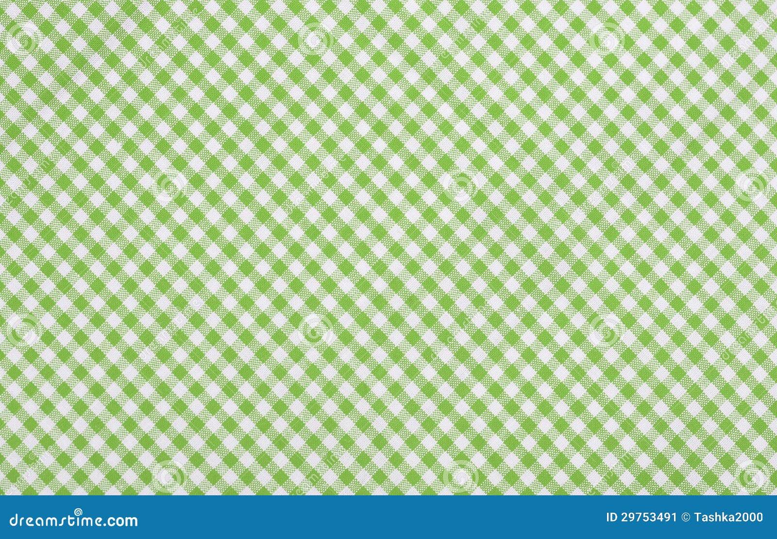 Tela checkered verde