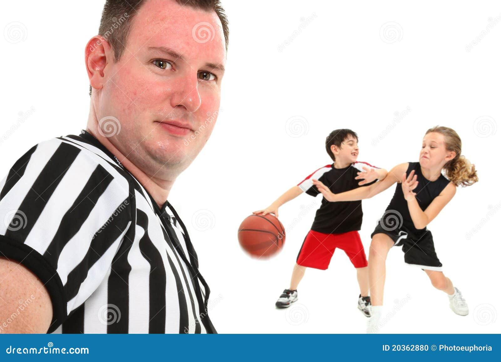 Close Up Children s Basketball Referee