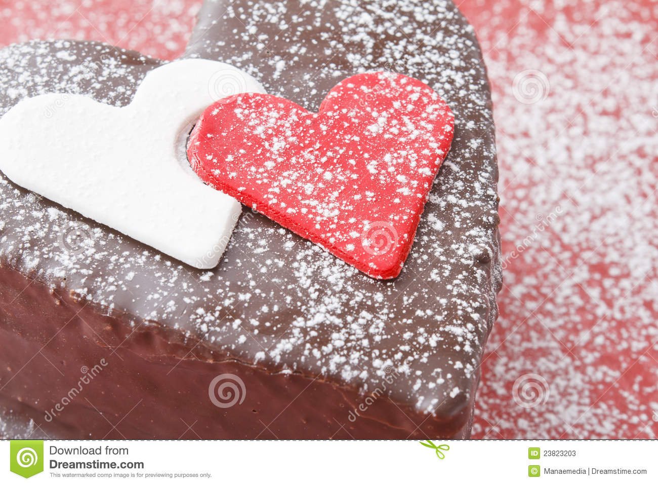Heart Shaped Cake Stock Photos : Close-up Of A Chocolate-cake Stock Photos - Image: 23823203
