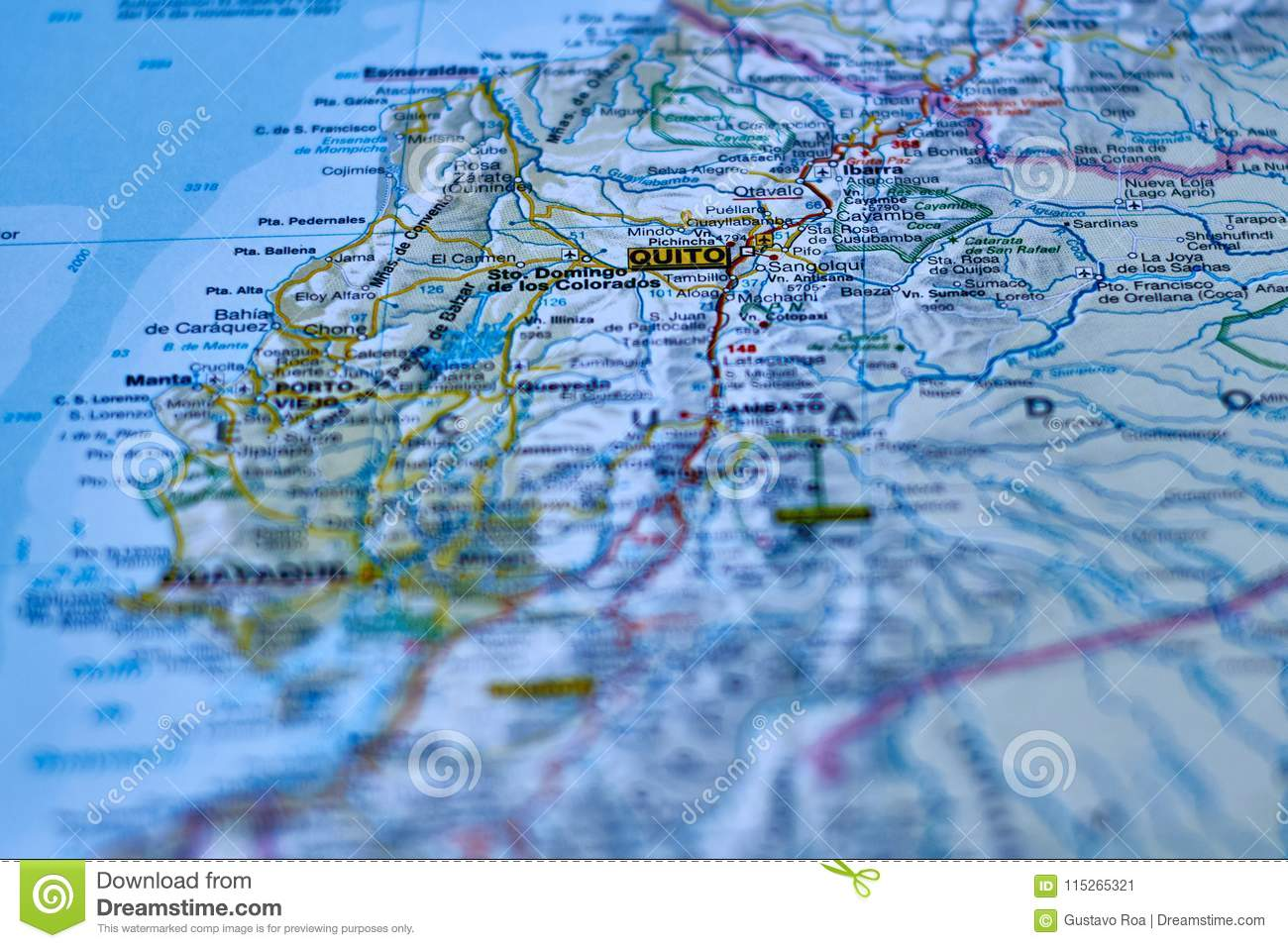 Map Of The City Of Quito, Capital Of Ecuador Stock Image - Image of Quito Map on