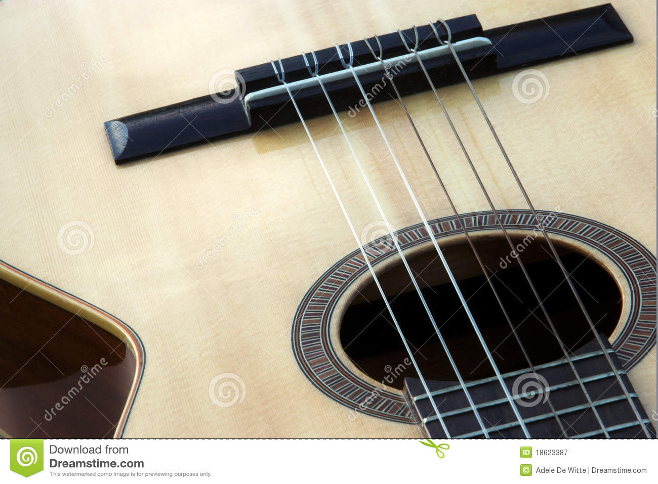 close up of classical guitar strings royalty free stock photography image 18623387. Black Bedroom Furniture Sets. Home Design Ideas
