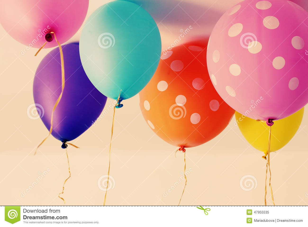 Close Up Of Colorful Balloons Stock Photo - Image: 47955535