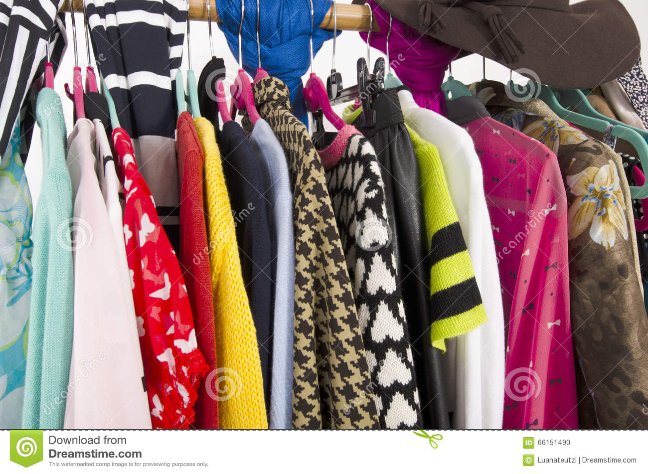 close up of colorful clothes royalty free stock image 35171290. Black Bedroom Furniture Sets. Home Design Ideas