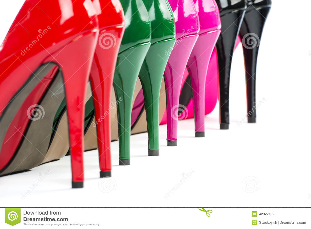 055f853870 Close-up Of Colorful High Heels Shoes Stock Photo - Image of luxury ...