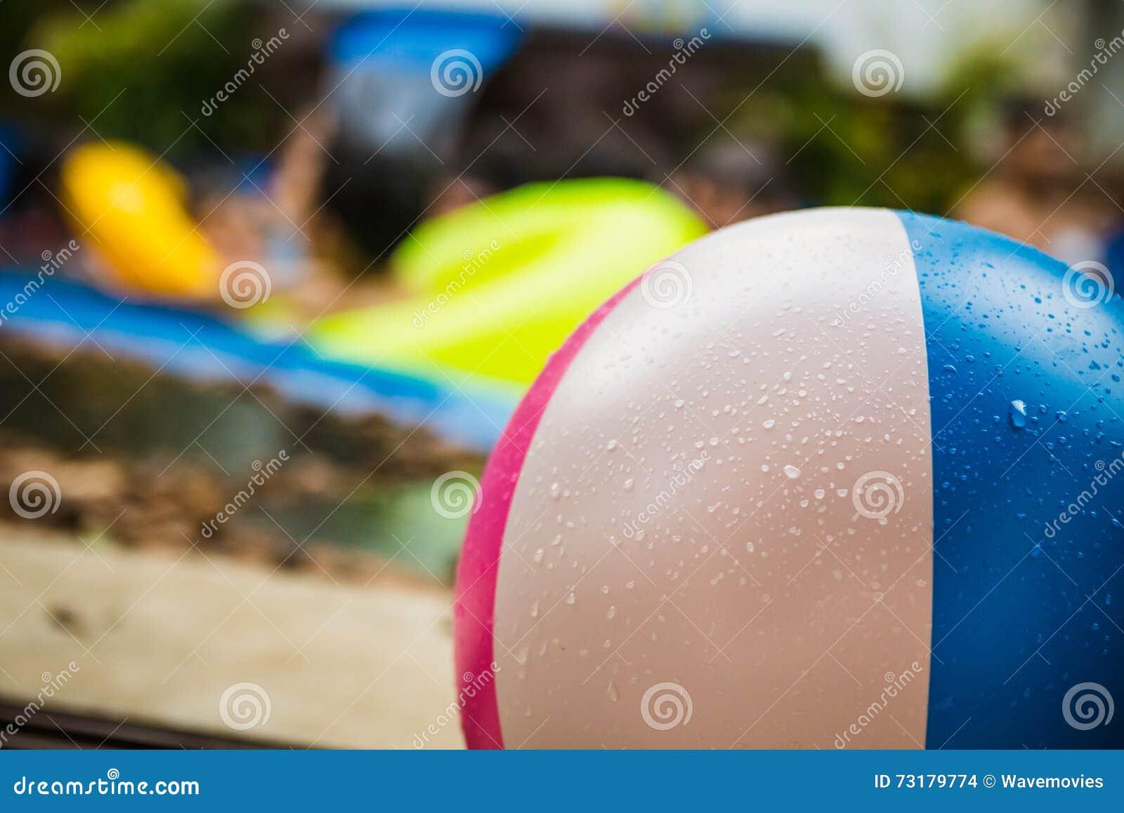 swimming pool beach ball background. Close Up On Colorful Wet Beach Ball In Swimming Pool Stock Photo - Image Of Beachball, Kids: 73179774 Background