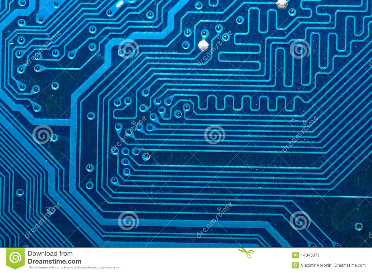 Close Up Of Computer Circuit Board In Blue Stock Image Closeup Electronic Royalty Free Photography Photo