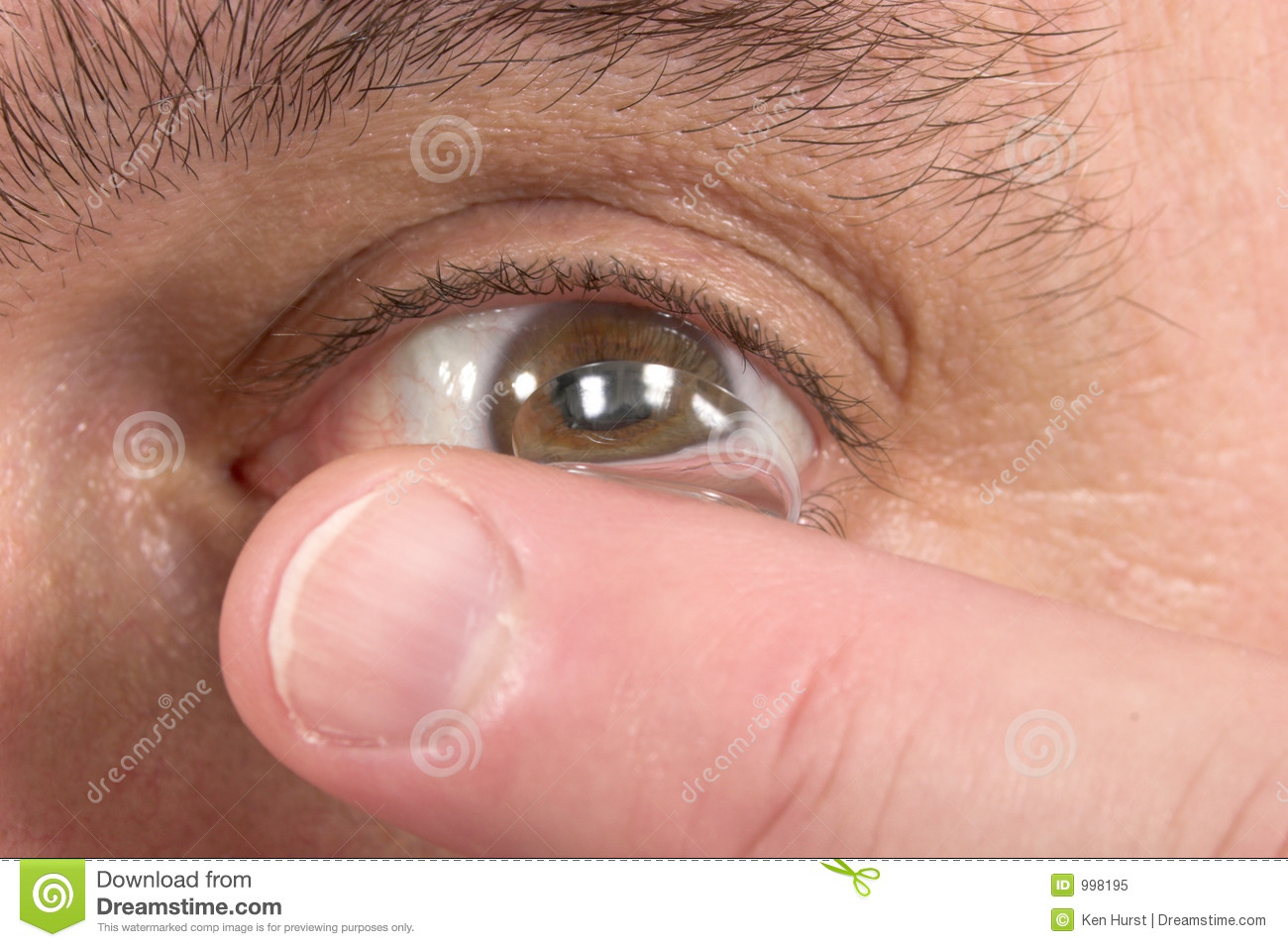 Close-Up Of Contact Lens And Eye 3