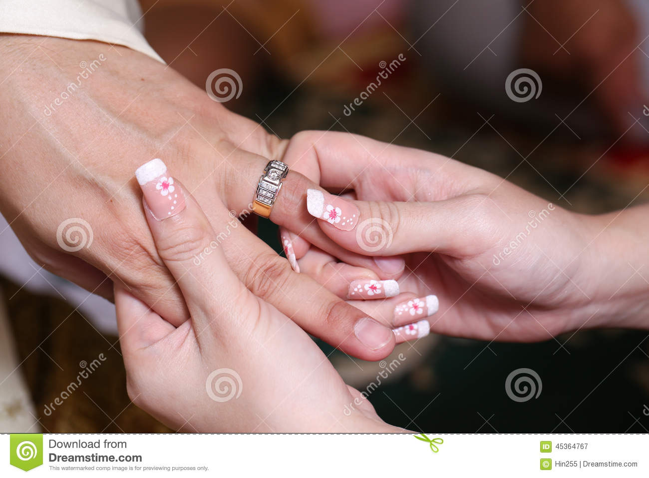 Close Up Couple Putting The Ring For Engagement Stock Image - Image ...