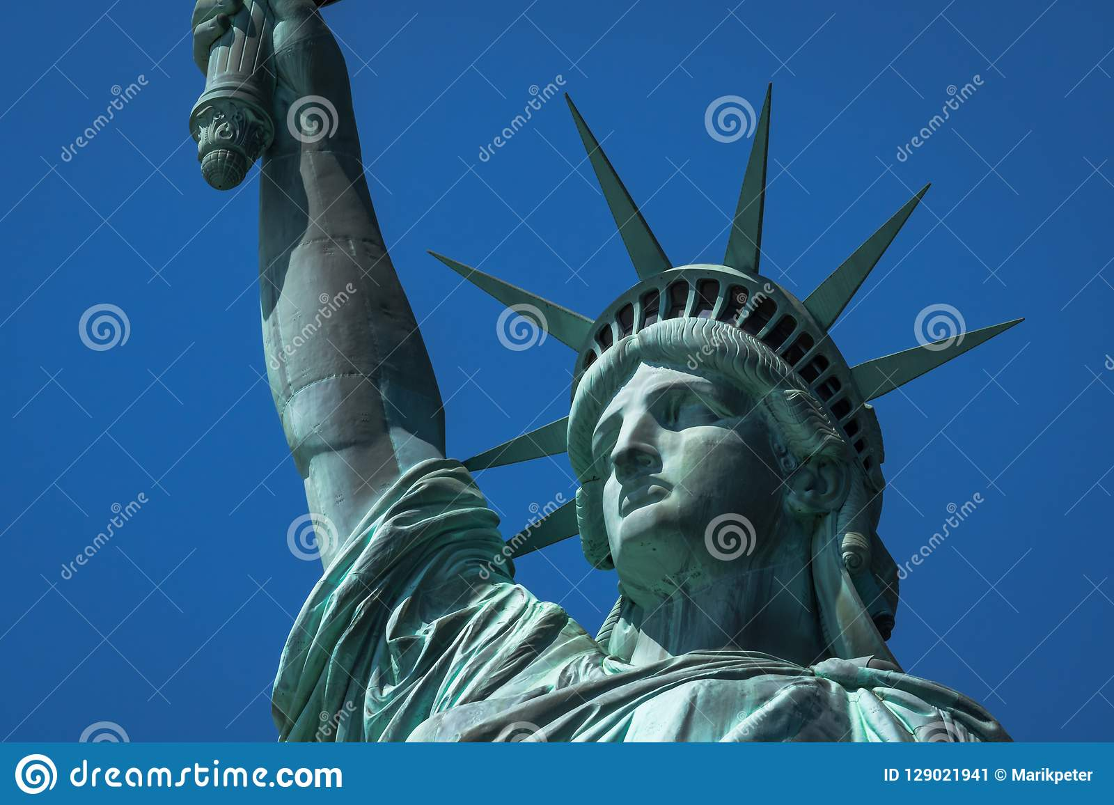 e24c7f933dd04 Royalty-Free Stock Photo. Close-up of the crown and face of Statue of  Liberty in New York