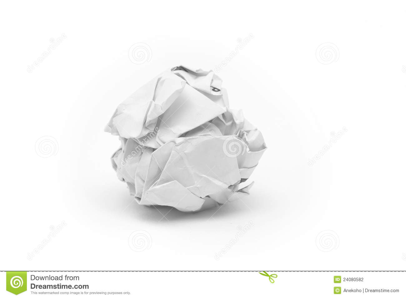 close-up of crumpled paper ball stock photo - image of recycle