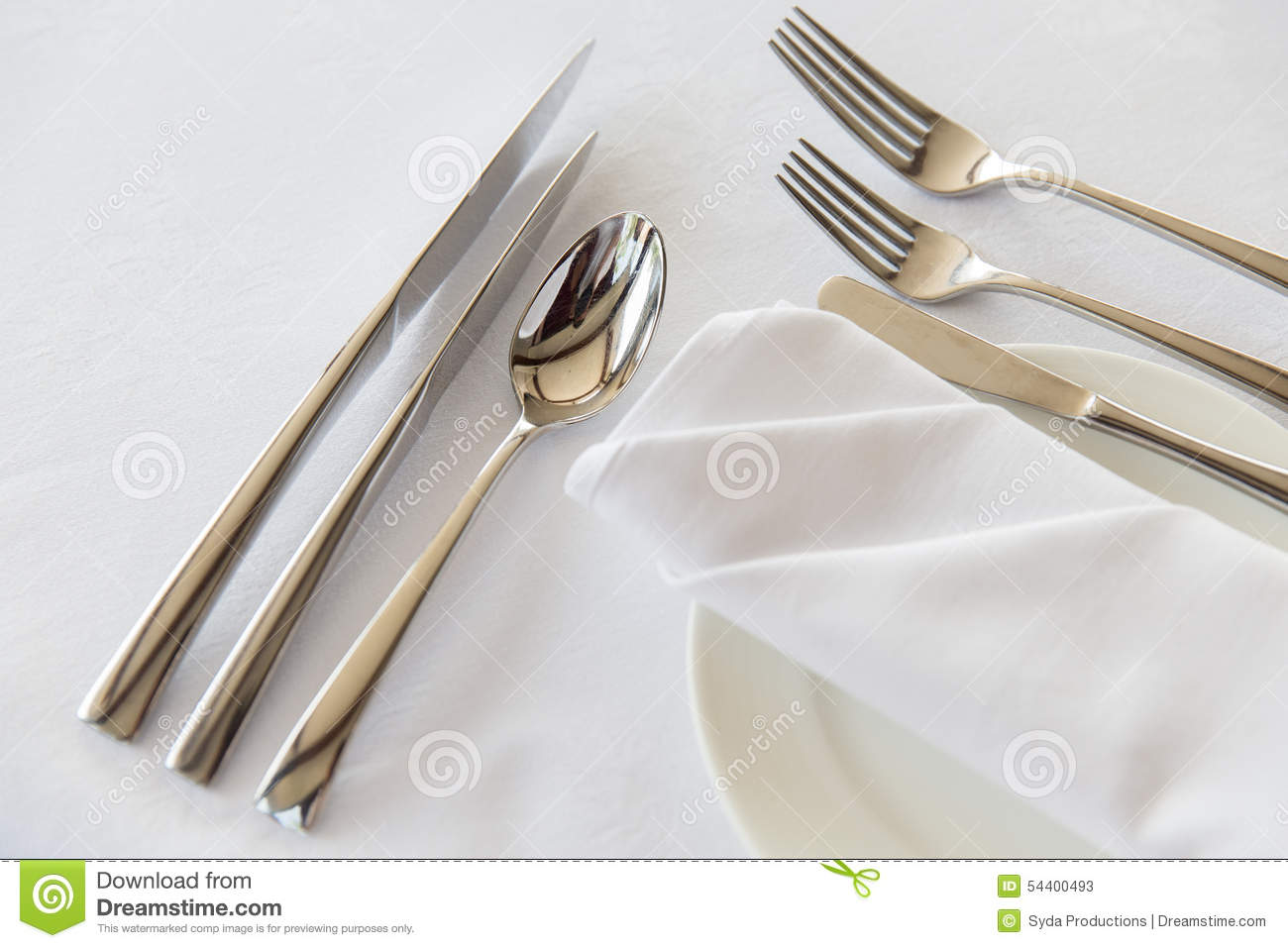 Close Up Of Cutlery Set On Table Stock Photo Image 54400493 : close up cutlery set table setting silverware eating concept wrapped napkin plate restaurant 54400493 from dreamstime.com size 1300 x 957 jpeg 100kB