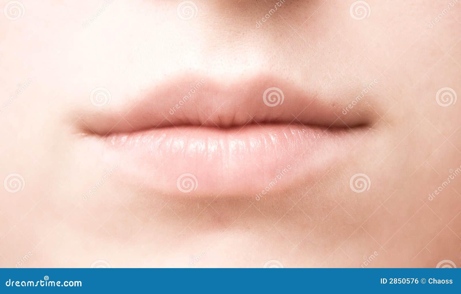 Close up da boca da mulher