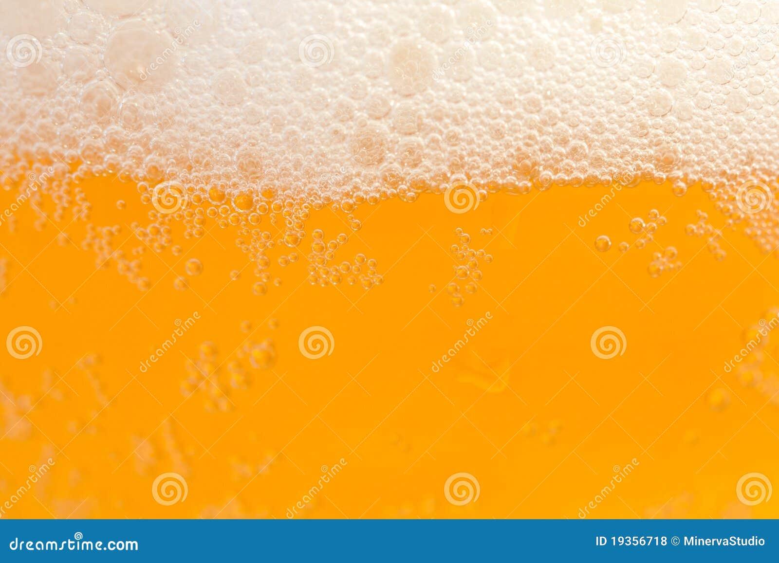 Close up da cerveja