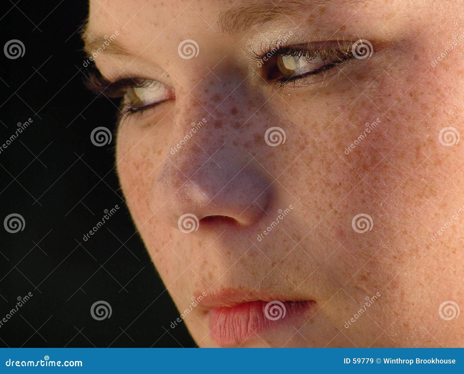 Close-up da face das meninas