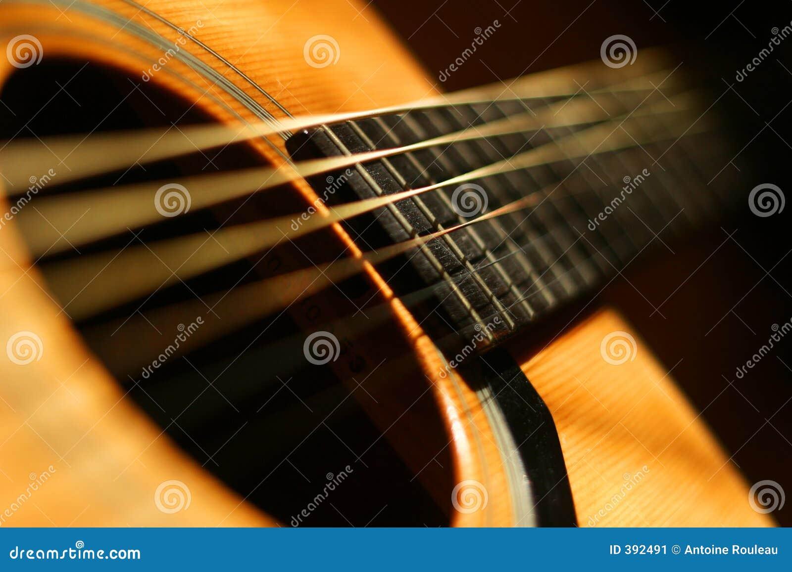Close-up da guitarra