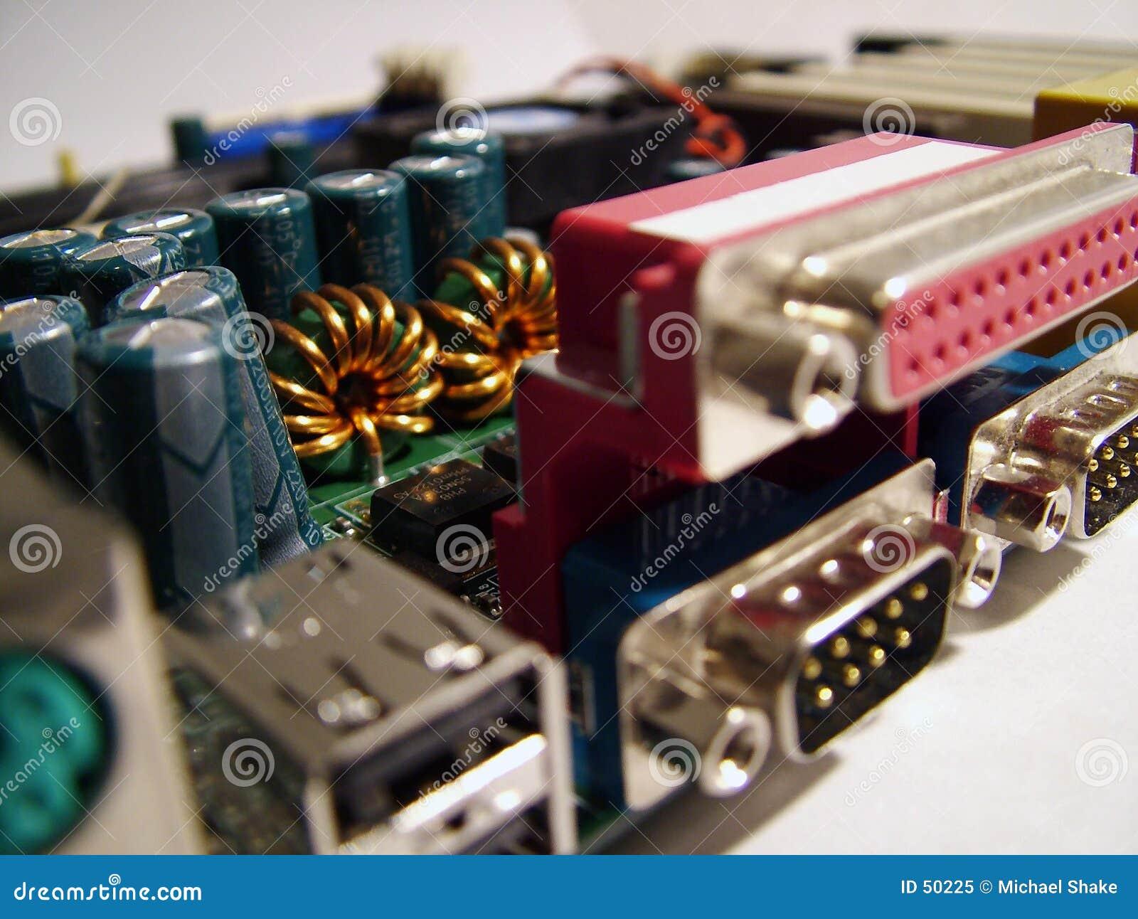 Close up da placa do computador