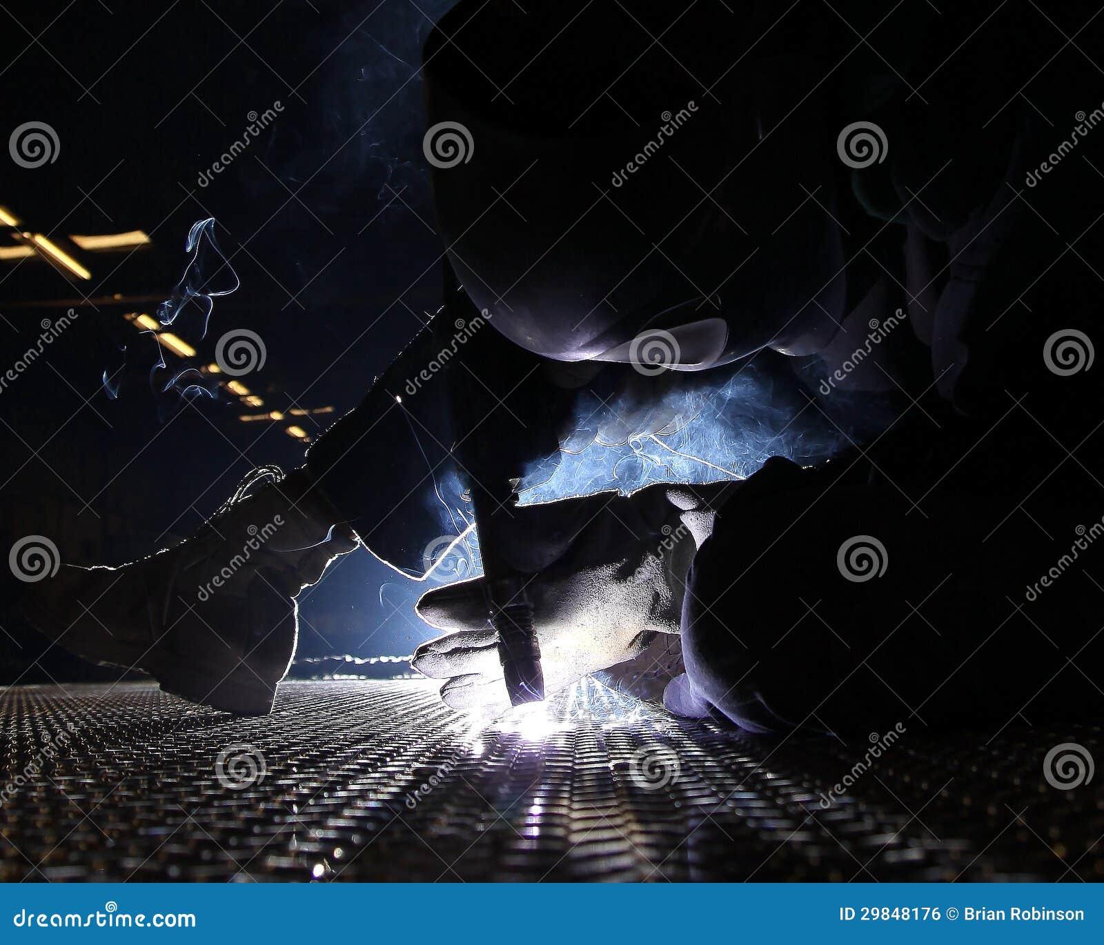 Soldadura de alumínio da placa da plataforma