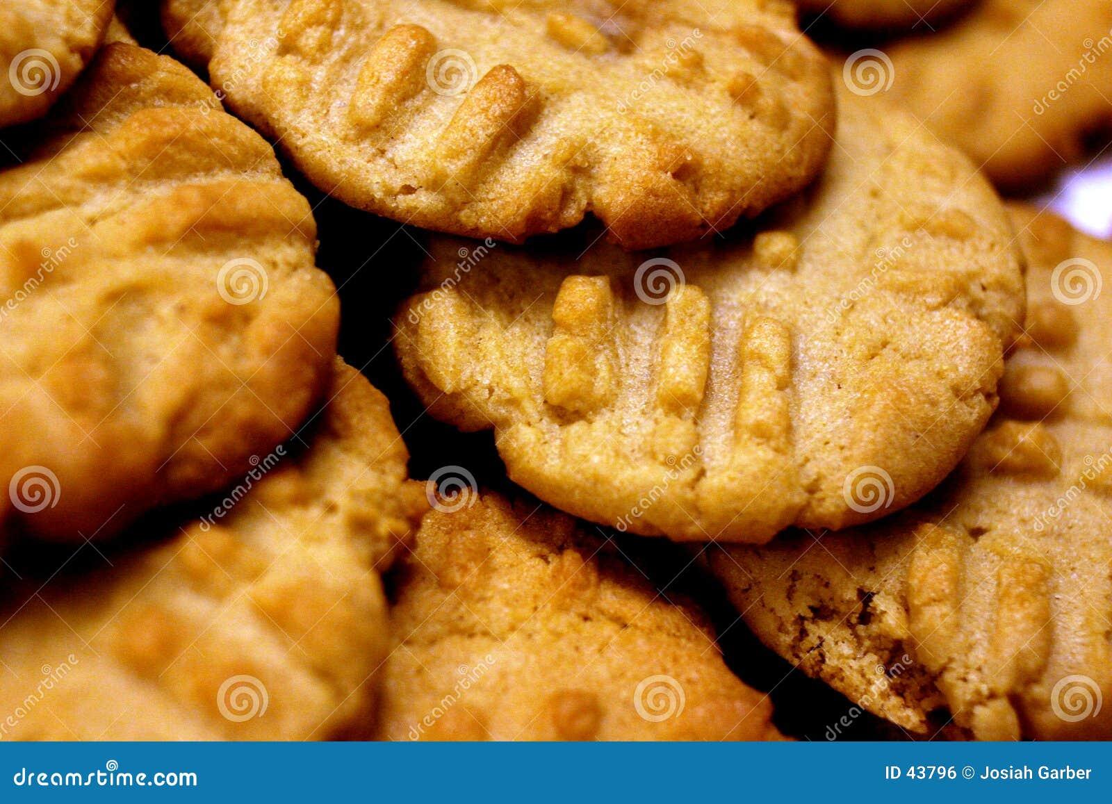 Close up de bolinhos de manteiga do amendoim