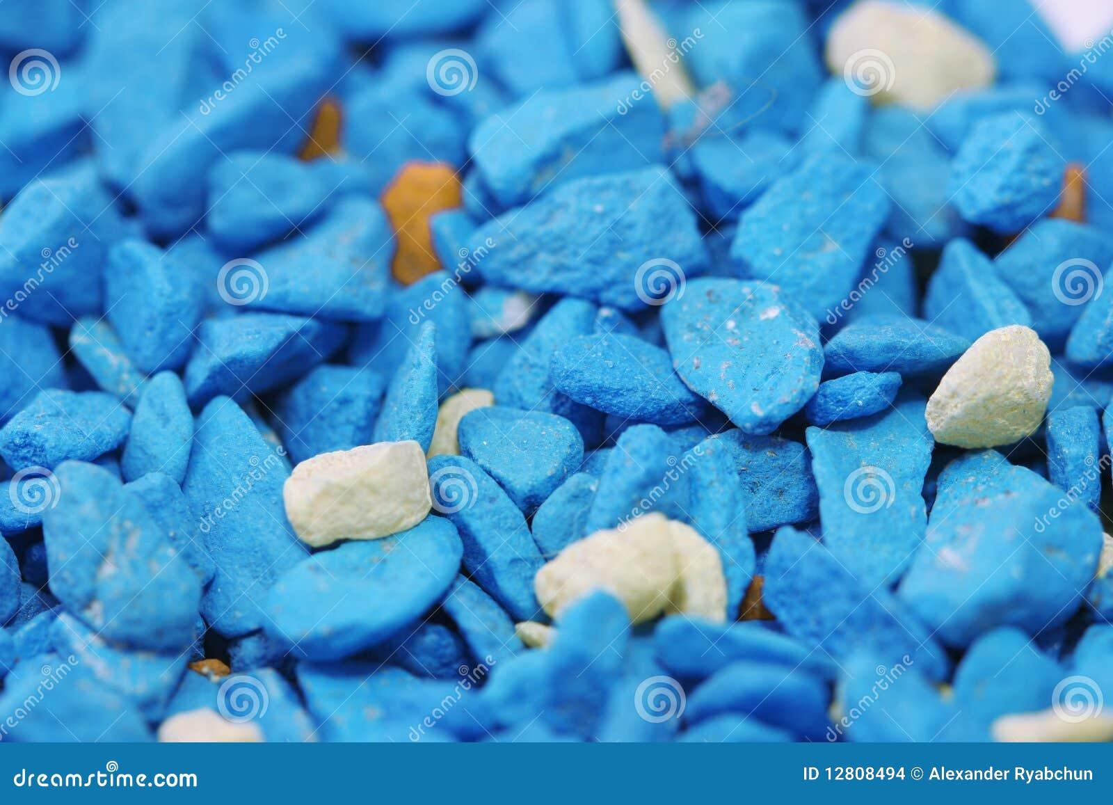 Close-up de pedras azuis