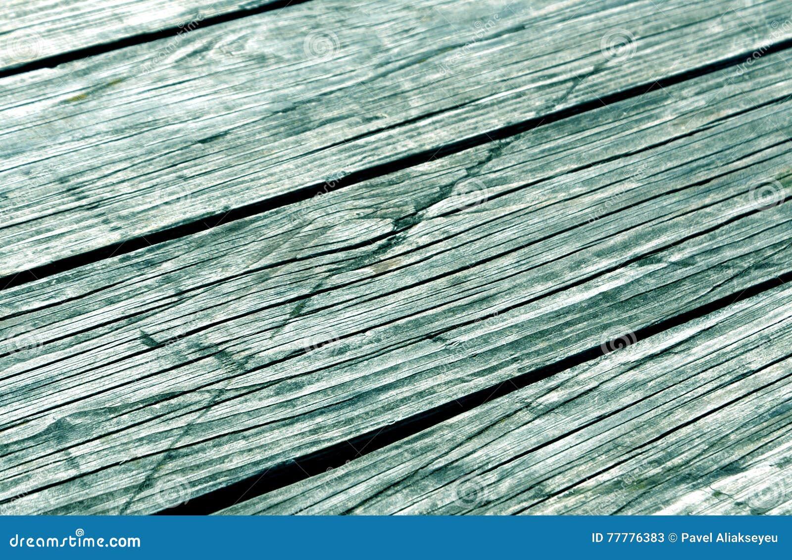 Close-up de pranchas de madeira tonificadas cianas