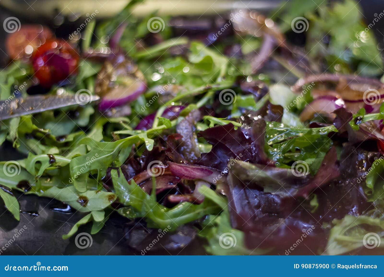 Close-up de uma salada saboroso fresca
