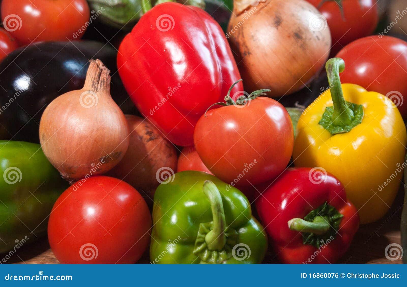 Close up de vegetais misturados