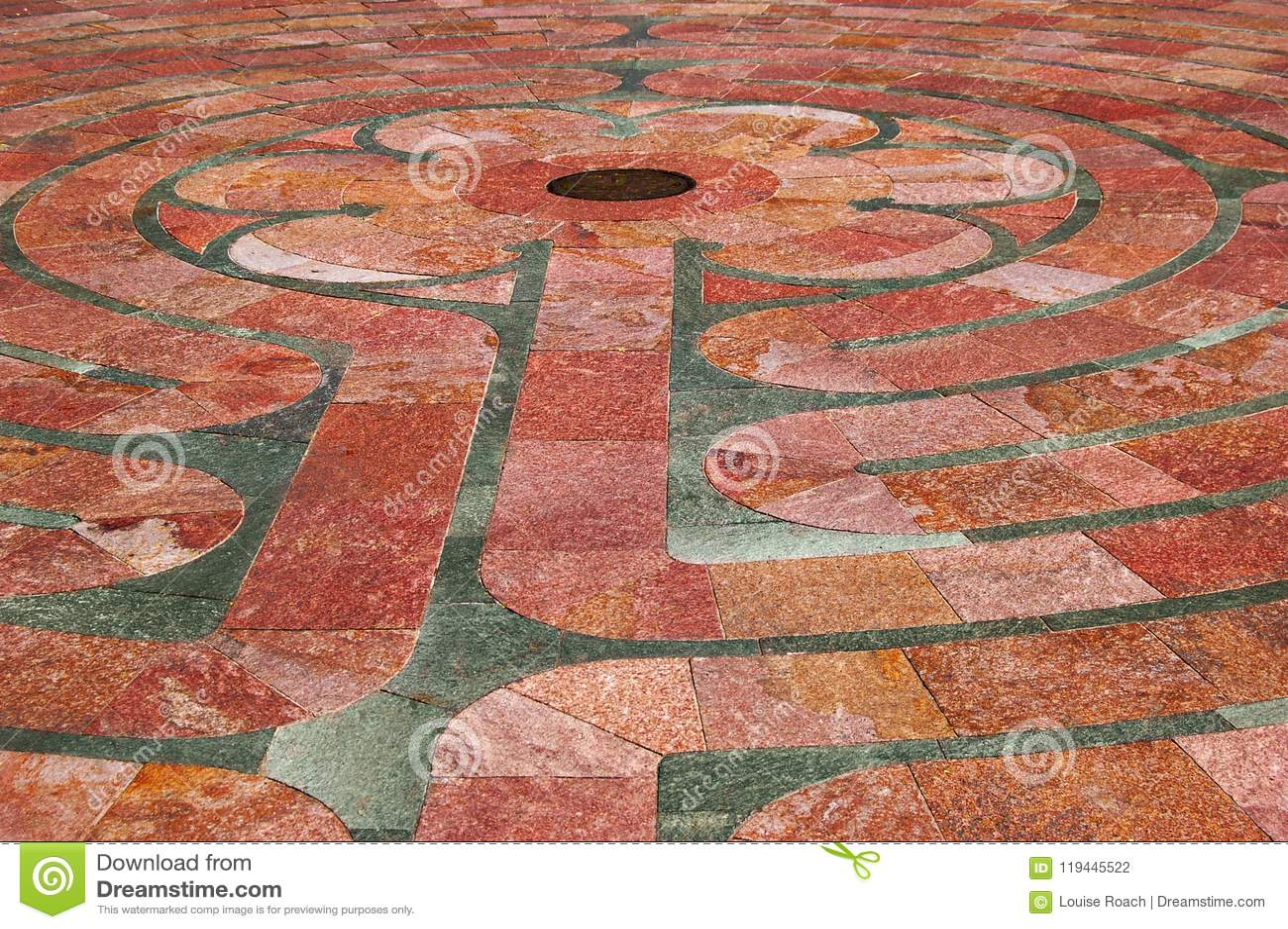 Saint Francis Labyrinth Close-up