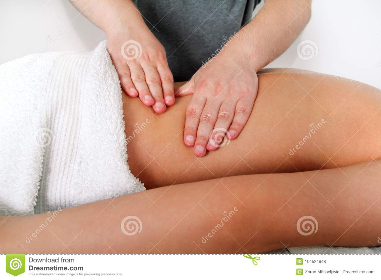 Close Up Detail Of Hands Massaging Female Back Stock Photo ...  Close Up Detail...