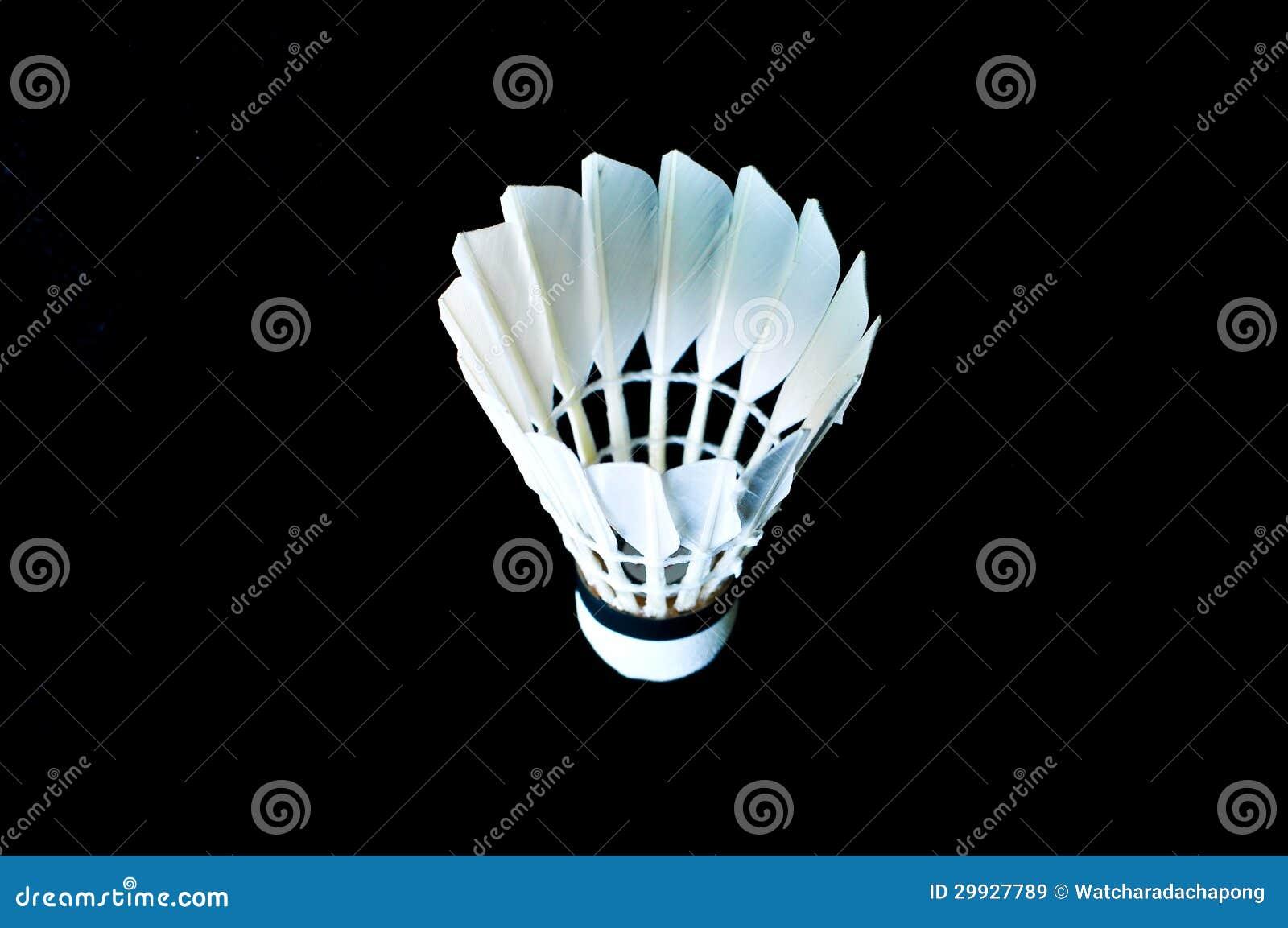 Close up detalhado de um shuttlecock do badminton