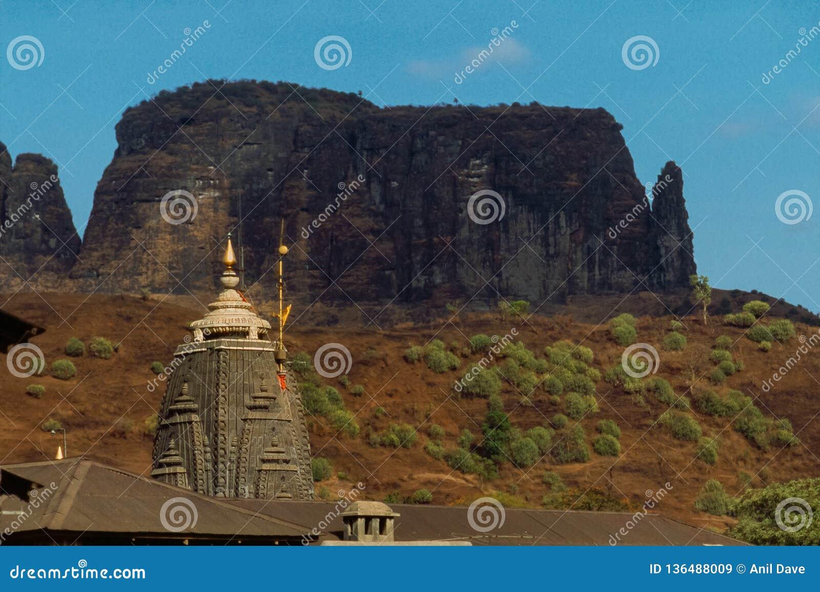 Close-up die van shikha Trimbakeshwar Shiva Temple jyotirling