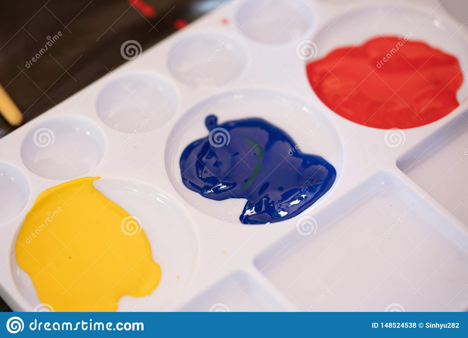 Close up of different color oil paint, Patterns or backgrounds of various colors.