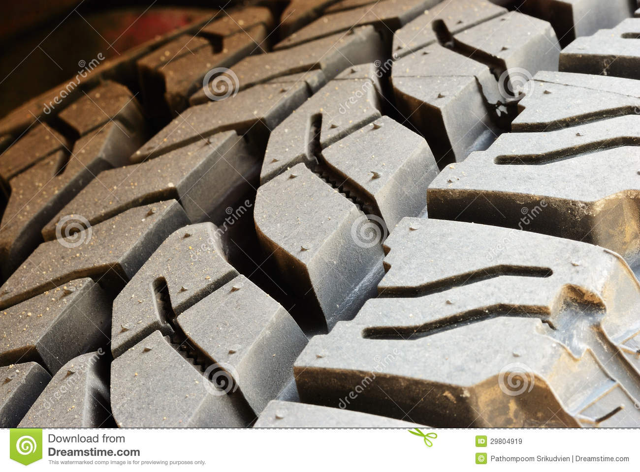Close up on dirty tire line